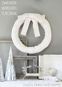 Learn How To Recycle Your Old Sweaters Into A Cozy Wreath. Love this! via @Taryn H H {Design, Dining + Diapers}