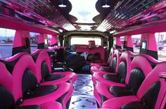 "our new ""HOT PINK"" Hummer has everything... complete interior package ...    limomike.com"