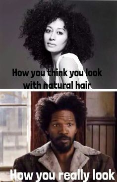 The natural hair struggle  goes on.lol