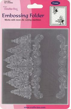 Christmas Trees Embossing Folder  by Crafts Too