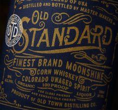 Old Standard Moonshine on Behance