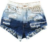 ombre-vintage ombre studded short by runwaydreamz