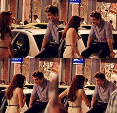 Rob and Kristen Behind the scenes of BD1...