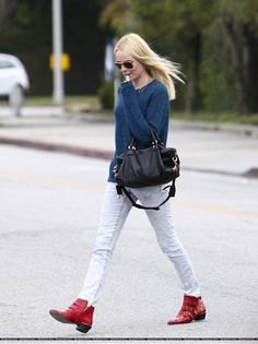 Kate Bosworth , Chloe Flat Studded Boots
