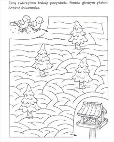 Használja a nyilakat, kapcsoló a lejátszott kép Mazes For Kids, Printable Activities For Kids, Animal Activities, Color Activities, Preschool Worksheets, Preschool Activities, Feeding Birds In Winter, Homework Club, Autumn Crafts