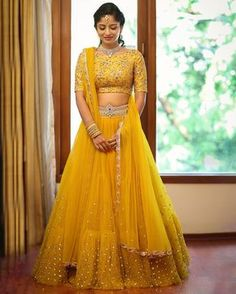 Mustard love .Bride Nishitha in a signature style by Mrunalini Rao . 23 June 2017