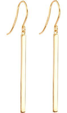 Jennifer Meyer Gold Stick Earrings