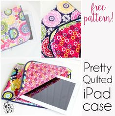 Pretty Quilted iPad Case by Caroline Fairbanks-Critchfield - Craftsy