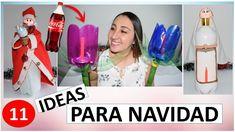 11 FAROLES NAVIDEÑOS CON BOTELLAS DE PLASTICO / MANUALIDADES PARA NAVIDA...