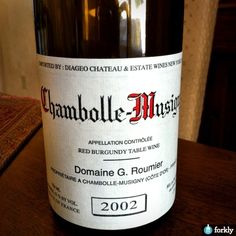 2002 Chambolle-Musigny Red Burgundy Table Wine