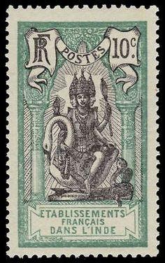 FRENCH INDIA  Hindu God Brahma