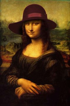 Gioconda con Sombrero  #SombrereriaAlbiñana #sombrero #sombrereria #moda #arte #hat #hatshop #Chistera #Tophat