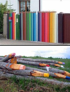 11 Super coole Ideen, um deinen Gartenzaun aufzuwerten! - DIY Bastelideen