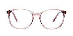 Affordable Fashion Glasses Rectangle Eyeglasses Women Nadine Rose Front