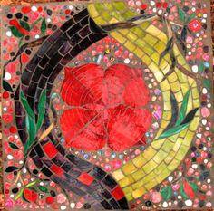 The Labyrinth in Mosaic Art. This pic is #5 First Chakra - Muladhara, Mosaic Labyrinth [5 of 52 pics]