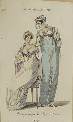Two ladies, 1813 lady's magazine
