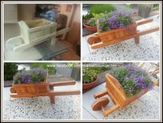 Wheelbarrow made of palletwood