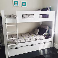 Urban Kids Bunk Bed with Urban Under bed drawers Under Bed Drawers, Kids Bunk Beds, Kids Bedroom, Urban, Furniture, Mom, Home Decor, Ideas, Decoration Home