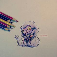 Cute colored pencil drawing.