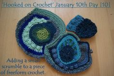 FREEFORM PROCESS ~ Part of the fun of freeform crochet is making it up as you go along!