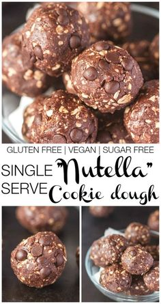 Single Serve Nutella Breakfast Cookie Dough- This #recipe is #glutenfree #vegan and #sugarfree but best of all- it's HEALTHY and takes 5 minutes to whip up- All for ONE! -thebigmansworld.com