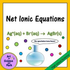 Reinforce the concepts and skills of writing and balancing net ionic equations in your high school chemistry course. Used as a bell-ringer, quiz, study station, review, students will be practicing writing and balancing net ionic equations.Includes:Concept summary handouts for students, with detailed explanations of how to write net ionic equations, and a detailed, step-by-step example.