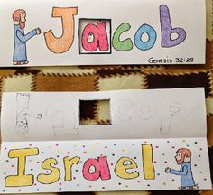 Jacob's name changed to Israel. This craft will help you prepare your Sunday school lesson on Genesis 25:21-50:11 on the Bible story of Jacob.