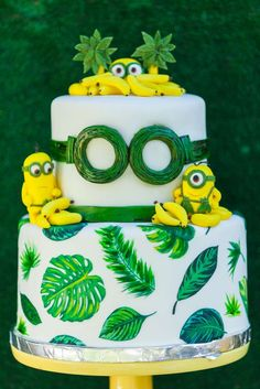 Check out this awesome birthday cake at this Gone Bananas - Minions Birthday Party! See more party ideas and share yours at Catch My Party
