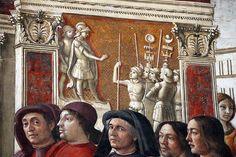 Domenico ghirlandaio, monocromi della cappella tornabuoni (annuncio a zaccaria), 1485-90, 03.