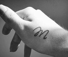 J Tattoo, Tattoo Hals, Piercing Tattoo, Piercings, Letter M Tattoos, Love Letter Tattoo, Dope Tattoos, Mini Tattoos, Small Tattoos