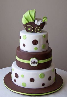 Gorgeous! <3 Modern Baby Shower cake by cakespace - Beth (Chantilly Cake Designs), via Flickr