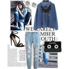 Sans titre #12 by julie-buathier on Polyvore featuring polyvore, mode, style, Carvela Kurt Geiger, Chanel, sweet deluxe and FOSSIL