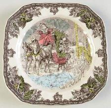 Johnson Brothers FRIENDLY VILLAGE CHRISTMAS Tree Square Salad Plate