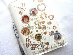 Colourful Flowers Journal pocket book notebook by shelikesthis