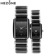 a122c8ed8146 Aliexpress.com   Buy HEZONE Lovers Quartz Watch Men Women Ceramic Strap  Watches Luxury Couple Clock Wristwatches Feminino Relogio Masculino Gift  from ...