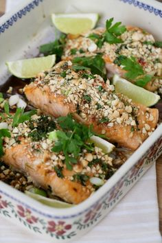 From Edward Hayden's new book - Food for Friends (released 22 April, - Asian Crusted Salmon in our Old Rose large rectangular oven dish. Irish Pottery, Crusted Salmon, Oven Dishes, Pottery Bowls, Salmon Burgers, Kitchenware, Asian, Entertaining, Chicken