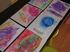 Rainbow Ice Paintings