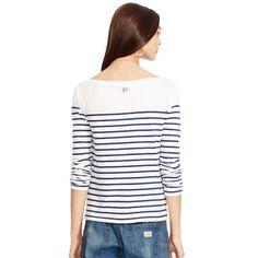Striped Cotton Boatneck Shirt - Long-Sleeve  Tops - RalphLauren.com