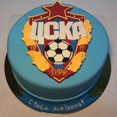 #Торт из сахарной мастики с эмблемой ПФК #ЦСКА #футбол #cake #instacake