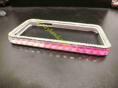 pink rhinestone iphone frame Cases iphone 5s iphone 5 iphone 4s iphone 4 galaxy s5 galaxy s4 note 3 bumper case galaxy note 2 frame bumper by Sandyhandcraft on Etsy https://www.etsy.com/listing/209172632/pink-rhinestone-iphone-frame-cases