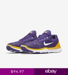 finest selection 4c948 cdb8e Nike Free Trainer V7 SG LSU Tigers Mens Shoes Purple Gold 898049 500