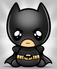 how to draw kawaii batman