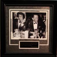 Hollywood Frank Sinatra/Dean Martin 16x20 Photo Framed w/ Quote