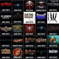 I hope more superhero movies come out soon...