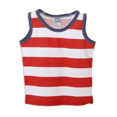 Mobi Minors Wide Striped Singlet (Tangelo Stripe) - The Baby Factory. Size 1. From Por Por and Kong Kong.