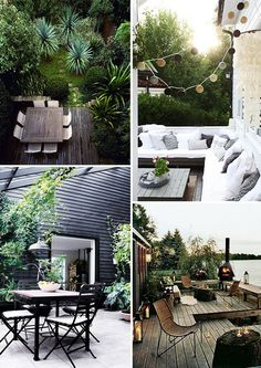 outdoor living, outdoor seating and dining, relaxed outdoors and gardens