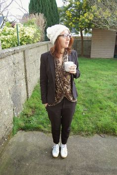 Ladies & croissants: Suit & leopard