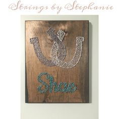 Horseshoe string art