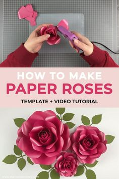How To Make Paper Flowers, Paper Flowers Craft, Paper Flower Wall, Giant Paper Flowers, Flower Crafts, Diy Flowers, Fabric Flowers, Paper Crafts, Handmade Flowers