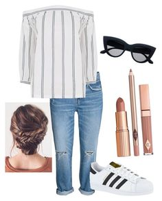 """""""Laid-Back Casual"""" by rachel-w14 on Polyvore featuring Warehouse, adidas and Dolce Vita"""